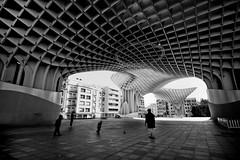 Parasol/Sevilla Spain (Grilled Bananas) Tags: street white black architecture photography sevilla spain espana hdr
