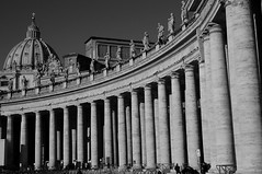 The Vatican - Columns ( V ) Tags: blackandwhite bw italy vatican rome roma building church architecture religious italian nikon italia cathedral noiretblanc basilica traditional religion holy dome ff lazio stpetersbasilica holysee stpeterscathedral negroyblanco d90 olaszorszg feketefehr rma ilobsterit
