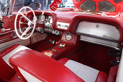 Thunderbird (beckstei) Tags: show old red dice classic ford car leather vintage bucket michigan interior seat detroit annarbor utata milford kensington southeast thunderbird bakers i96 of