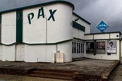 Cinéma Pax (Lucille-bs) Tags: france europe pax marche affiche picardie enseigne ciné cinéma somme baiedesomme quend quendplage cielnoir cinemapax