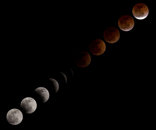 Total Lunar Eclipse Over NASA's Johnson Space Center, From FlickrPhotos