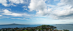 20160503-11-North Head and Rangitoto pano (Roger T Wong) Tags: travel newzealand panorama pano hill auckland nz devonport mtvictoria 2016 ptgui sony2470 rogertwong sel2470z sonyfe2470mmf4zaosscarlzeissvariotessart sonya7ii sonyilce7m2 sonyalpha7ii