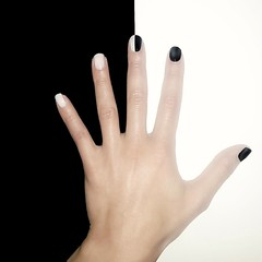 Black & White Nailart (AndIsOnFire) Tags: blackandwhite white black hand nail nails nailart