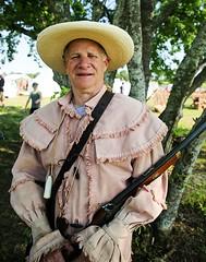 Texian Infantryman (wyojones) Tags: man hat infantry beard soldier uniform gun texas rifle houston reenactor texan deerpark texican texasindependence sanjacintoday sanjacintobattlefieldstatehistoricalpark sanjacintobattlereenactment
