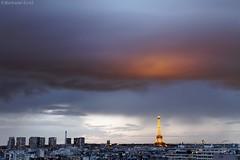 Ciel de Paris (bertrand kulik) Tags: city sunset sky cloud storm paris nature architecture amazing eiffeltower ciel nuage ville orage bertrandkulik