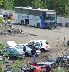 H1NCN ex New College Nottingham (Lady Wulfrun) Tags: bus volvo coach skills scrapyard scrap derby looms plaxton b10m newcollegenottingham h1ncn