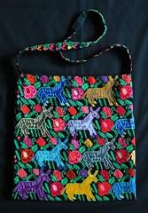 Maya Bag Chiapas Mexico (Teyacapan) Tags: flowers horses animals mexico maya donkeys mexican bags textiles bolsa chiapas purses embroidered burros bordados
