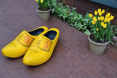 Wooden Shoes (jpellgen) Tags: wood travel flowers usa flower holland netherlands dutch america wooden spring nikon midwest shoes european tulips may sigma roadtrip iowa ia tulip clogs tuliptime pella 2016 1770mm d7000