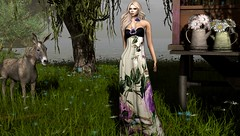 Modern Gypsy (Jamee Sandalwood - Miss V SWEDEN 2015) Tags: art floral fashion outside outdoors photography photo blog model long photographer 500v20f dress blogger sl secondlife virtual pixel blonde flowing penumbra artphotography slfashion fashionart fashionartphotography lavian blo9g