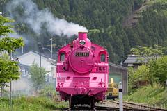 Pink SL at Wakasa Railway (17) (double-h) Tags: sl tottori jnr steamlocomotive c12   eos6d   pinksl wakasarailway  c12 ef100400mmf4556lisiiusm c12167 wakasastation classc12 c12 sl