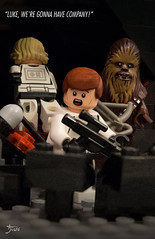 Luke, we're gonna have company! (Todd Weinzierl Art) Tags: starwars lego disney legostarwars hansolo legophotography