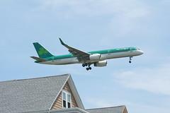 IMG_2508 (wmcgauran) Tags: boston airplane airport aircraft aviation boeing bos aerlingus 757 eastboston kbos eicjx