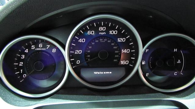 speedometer acura rl 2012 2011