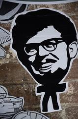 Kentucky Fried Harris (Mr Clicker / Davin) Tags: street art chicken logo island graffiti nikon sticker mr harbour satire sydney australia davin rolf harris cockatoo naval convict fried clicker saunders outpost exhibiton colnel 2011 hertige d7000 fentucky