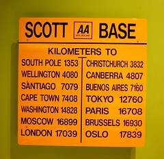 Direction table from Scott Base (Misi a Fedo) Tags: newzealand christchurch canterbury southisland antarctic directiontable