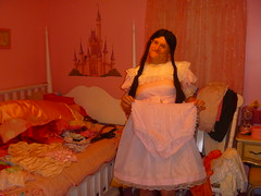 Showing off my pretty panties! (Petticoat Brenda) Tags: pink cute panties princess cd laundry sissy crossdress showoff petticoat maryjaneshoes