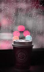 Just rain (F l S f a h .. ❥) Tags: rain coffe مطر هدوء كفي دربي نافذه