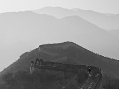 The Forbidden Great Wall of China, Shuiguan (adde adesokan) Tags: china travel original people blackandwhite bw man black wall pen landscape photography solitude olympus walker mann greatwall schwarzweiss schwarz 45mm m43 mft mirrorless microfourthirds theblackstar mirrorlesscamera addeadesokan