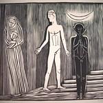 "<b>Orpheus, Eurydice and Hermes (Orpheus, Eurydike und Hermes)</b><br/> Gerhard Marcks (1889-1981) ""Orpheus, Eurydice and Hermes (Orpheus, Eurydike und Hermes)"" Woodcut, n.d. LFAC #2004:07:07<a href=""http://farm8.static.flickr.com/7035/6438622263_744817ea57_o.jpg"" title=""High res"">∝</a>"