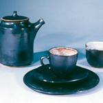 "<b>Black Tea Set</b><br/> Frans Wildenhain (1905-1980) ""Black Tea Set"" Stoneware, ca. 1950 LFAC #884<a href=""http://farm8.static.flickr.com/7035/6438692841_35fffe174d_o.jpg"" title=""High res"">∝</a>"