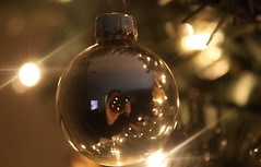 it's almost christmas time! 210/365 (Allie Koshes) Tags: christmas camera light reflection self silver mirror bokeh christmastree ornament odc ourdailychallenge