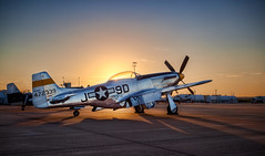 P-51 Mustang (Michael Tuuk) Tags: sky plane sunrise fighter texas tx airshow mustang propeller prop fortworth p51 2011 allianceairshow allianceairport