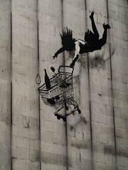 Banksy: Shop Til You Drop (Alex Ellison) Tags: urban streetart graffiti stencil trolley banksy centrallondon shoptilyoudrop