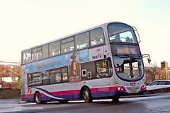 First West Yorkshire 37669, YJ58RSX. (EYBusman) Tags: city west bus station eclipse volvo town coach yorkshire centre leeds first link wright rider gemini ilkley skipton x84 b9tl yj58rsx eybusman