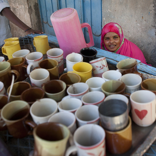 Boroma coffe shop in the street - Somaliland