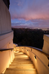Winding Path [Explored] (Edwin_Abedi) Tags: longexposure sunset architecture stairs losangeles perspective griffithobservatory