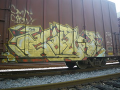 Goya (Stalkin The Lines) Tags: graffiti florida ns trains fl boxcar goya freight southflorida freights cmk