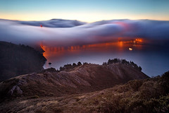 The Golden Gate Bridge - Sideway Fog (Andrew Louie Photography) Tags: bridge november fog golden gate san francisco hawk anniversary marin hill jazz headlands 75 drama sideways risikibebe
