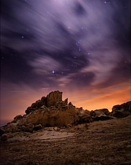 Lunar Eclipse Landscape (Fort Photo) Tags: longexposure nature night clouds stars landscape carr evening eclipse nikon colorado rocks glow space weld solstice orion co astronomy lunar 2010 lightpollution larimer neco rockformation d700 attotality