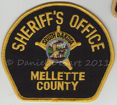 """Mellette County Sheriff (bloo_96 """"Daniel DeSart"""") Tags: public us leo south united police safety sd le law states enforcement sheriff patch emergency insignia shoulder dakota patches response ensignia"""
