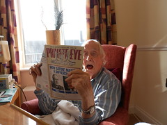 "Ronnie enjoying ""Private Eye"" (Ronnie Biggs The Album) Tags: ronnie biggs greattrainrobbery oddmanout ronniebiggs ronaldbiggs"
