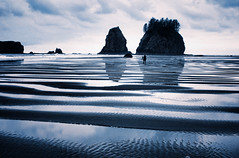 reflections on the pacific (ewitsoe) Tags: ocean morning reflection photography coast early washington nikon coastal pacificnorthwest lowtide pacificbeach lapush 2035mm d80 visitwashington