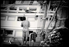Boat Life (inneriart) Tags: ocean boy sea vacation portrait blackandwhite bw man male men guy boys water trekking thailand boats photography boat utah amazing fishing fisherman nikon southeastasia artist emotion unique awesome fineart indianocean creative guys adventure saltlakecity backpacking adobe american commercial transportation thai passion males traveling adults krabi freelance greyscale adventuring inneri hannahgalliinneri nikond300s photoshopcs5 photographyinneri inneriart innereyeart inneri wholehannah inneriartcom httpinneriartcom