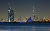 Welcome to the Future! (DanielKHC) Tags: sea beach skyline night island lights hotel al nikon long exposure dubai uae palm clear khalifa arab moonlight jumeirah burj d300 danielcheong nikkor70200mmf28 danielkhc