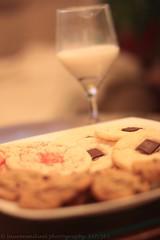 Milk and Cookies (Lauren Mikael Photography) Tags: cookies canon rebel 50mm milk 365 sugarcookies andies turtlecookies t1i laurenmikael peppermintandies