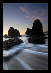 Rodeo Beach (Matt Kawashima) Tags: ocean sanfrancisco california sunset beach rock bayarea rodeo marincounty rodeobeach