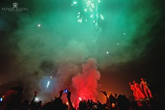 Bangladesh: The Celebration (Rezwan Razzaq) Tags: carnival red people sculpture green festival night campus happy day crowd joy du victory celebration national dhaka independence bangladesh symbolic tsc bijoy dibosh