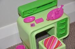 1978 Dream Furniture Barbie Desk Closeup (jadedoz) Tags: green vintage doll desk furniture dream barbie 1978 mattel