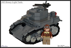 Lego ww2 -M3 Honey Light Tank- (=DoNe=) Tags: world light 2 by viktor dark war tank lego wwii stuart homemade american done m3 bley brickarms legoww2 legostuart