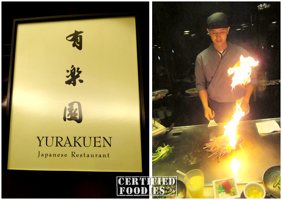 Yurakuen Japanese Restaurant in Manila Diamond Hotel - Teppanyaki Eat All You Can Buffet Promo