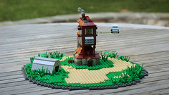 The Burrow (Carson Hart) Tags: brick ford home scale grass car flying lego little wizard smoke magic ministry shed harry potter harrypotter mini ron photograph tiny ginny anglia burrow weasley fordanglia ministryofmagic chamberofsecrets orderofthepheonix miniscale