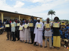 teachers with training certificates