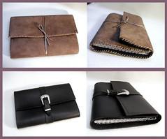 Leather Journal (- kaori -) Tags: leather notebook book handmade diary journal kaori daim cuir leatherjournal suedine