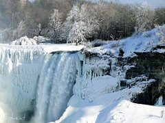 White Christmas (flipkeat) Tags: christmas eve travel winter usa white snow ice nature wonder landscape landscapes frozen waterfall veil sony awesome scenic scene noel niagara falls explore american covered bridal wintery niagarafallswinter dschx1