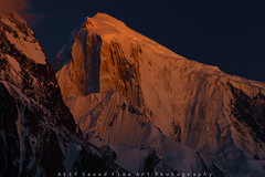 Golden Peak.. (M Atif Saeed) Tags: pakistan sunset mountain mountains nature landscape karakoram northern hunza northernareas gilgit alpenglhen atifsaeed