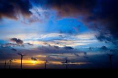 Sunset, Clouds & windmills 3 (DaBok) Tags: sunset sky netherlands clouds zonsondergang cloudy nederland wolken lucht polder flevoland almere windmolen windmil